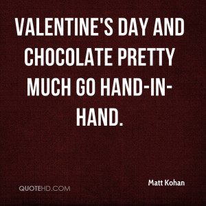Valentine's Day and chocolate pretty much go hand-in-hand.