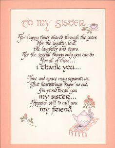 My Sisters, Happy Birthday, Sisters Quotes, Sisters Forever, Sisters ...