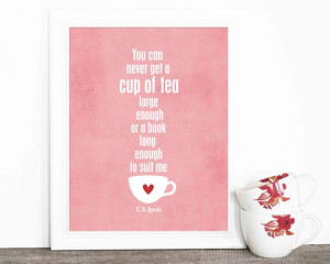 Tea Poster Typographic Digital Art Print A by hairbrainedschemes, $15 ...