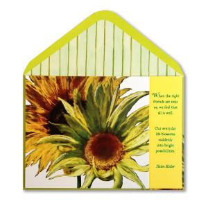 Home › Sunflowers w/ Helen Keller Quote