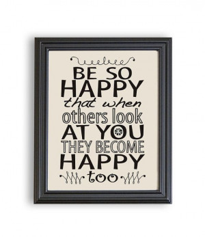 8x10 Typography Wall Art Print Printable Quotes Be so by Especia, $1 ...