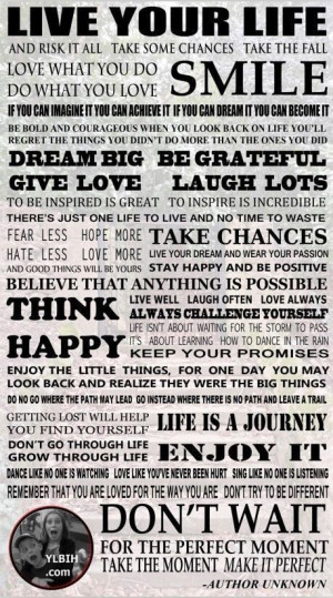 P1787-Live-Your-Life-POSTER-Inspirational-Positive-Quotes-24x42-Print ...