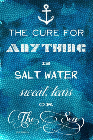 Oliver Gal The Cure Quote Canvas Art