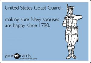 Funny Friendship Ecard United States Coast Guard Making Sure Navy