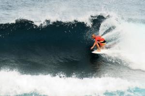 "Selfin' "" (surfing in Puerto Rican slang!) a wave in Isabela ..."