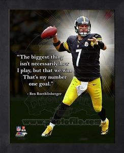 ... -Pittsburgh-Steelers-12x15-Black-Wood-Framed-Pro-Quotes-Photo