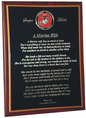 Marine Wife Poems Pictures