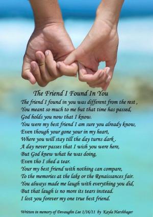 The friend i found in you