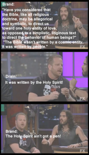 ... bit from the Russell Brand, Westboro Baptist Church interview - Imgur