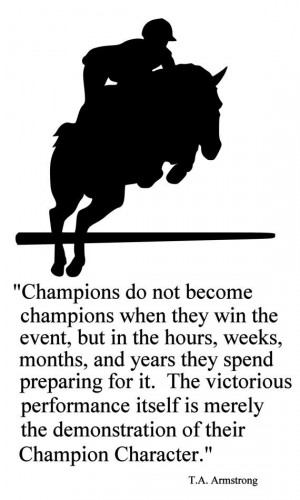 Quotes About Training Horses Quotesgram