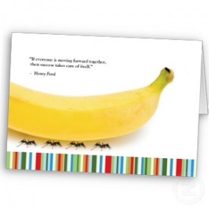 Teamwork Quote - Banana Thank You Card card