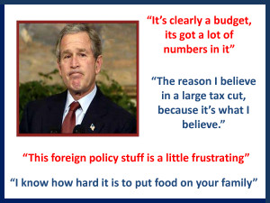 Funny George Bush Quotes Set 2 by MissPowerPoint