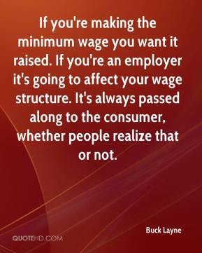 Minimum wage Quotes
