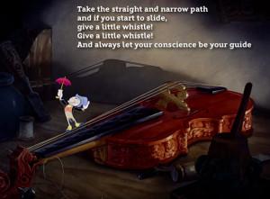 Disney songs Jiminy Cricket from Pinocchio