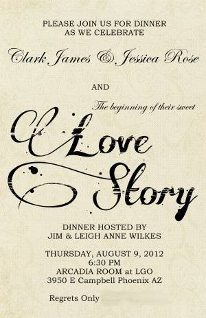 Wedding Rehearsal Dinner}Literary Love Theme
