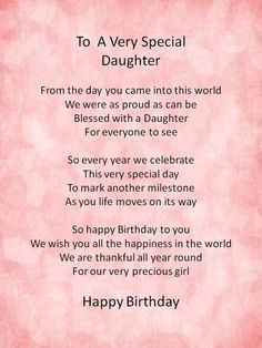 ... From Daughter | birthday daughter happy birthday daughter ... More