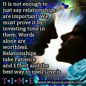 This goes for any relationship! Friends, lovers, children, parents and ...