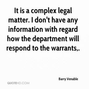 Barry Venable Quotes