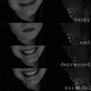 goodbye haha happy depressed depression sad suicidal suicide ugh smile ...
