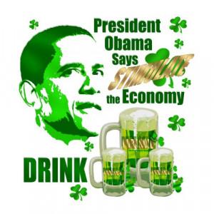 Obama Economic Stimulation Irish Style shirt