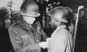 Patton awards the Silver Star to Pvt. Ernest A. Jenkins of the 761st ...
