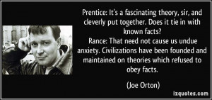 ... undue anxiety. Civilizations have been founded and maintained on