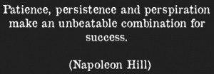 Patience and Persistence Quote