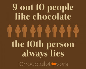 out 10 people like chocolate … chocolate quotes