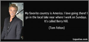 country is America. I love going there! I go in the local lake ...