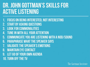 Active listening - More great Gottman strategies for relationship ...