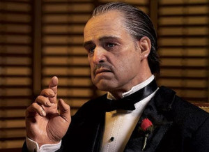 ... Don Vito Corleone in the Oscar winning movie The Godfather (1972