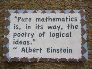Pure mathematics & poetry