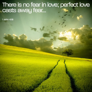 There Is No Fear In Love; Perfect Love Casts Away Fear...