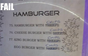 Hamburger with….chips