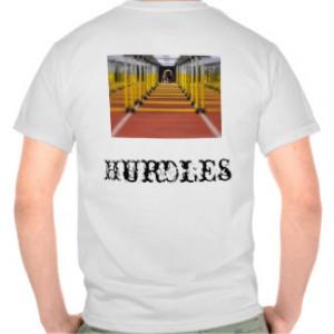 Hurdles Track and Field T-shirts