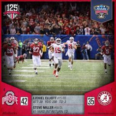... Ohio State heading to the 2014 - 2015 NCAA National Championship Game