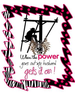 Linemans Wife Power Gets It on Tee by RhinestonesandRacks on Etsy, $18 ...