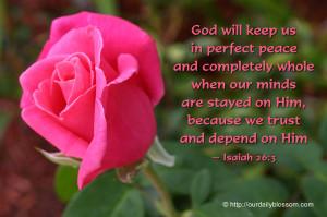 Biblical Verse – Isaiah 26:3