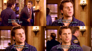 Awkward family reunion.-From Psych Season 2x14: Dis-Lodged