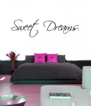 Sweet Dreams Quotes For Him Sweet dreams wall sticker