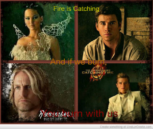Catching Fire- Katniss Gale Haymitch Peeta