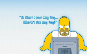computers quotes funny homer simpson the simpsons Wallpaper