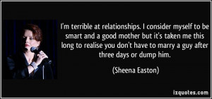 terrible at relationships. I consider myself to be smart and a ...