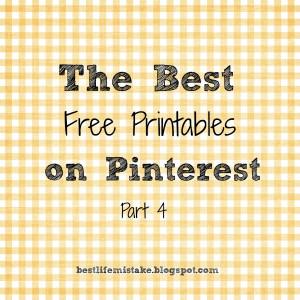 My Favorite Free Printables- Part 4