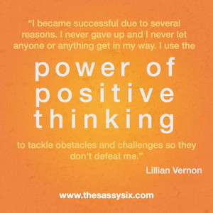Power Of Positive Thinking.