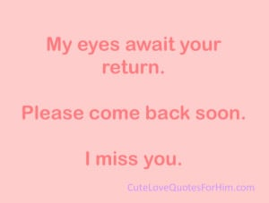 Cute I Miss Him Quotes