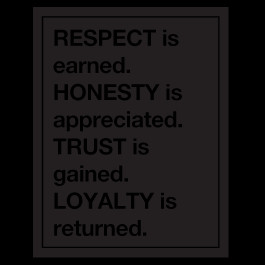 Respect Is Earned Quotes Respect wall quote decals