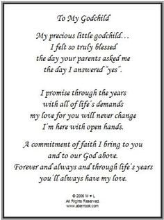 For Being My Godparent Quotes ~ Godchild/godmother/godfather quotes ...