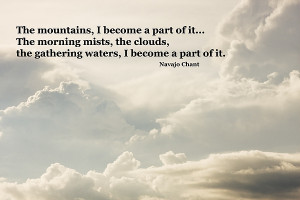 Navajo Chant Quote Clouds Building Before Storm Print by Keith Webber ...