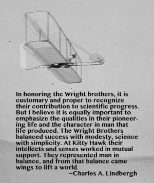 Wright Brothers Quote...